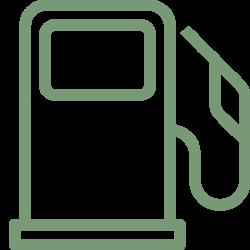 onbemand benzinestation onbebouwde grond